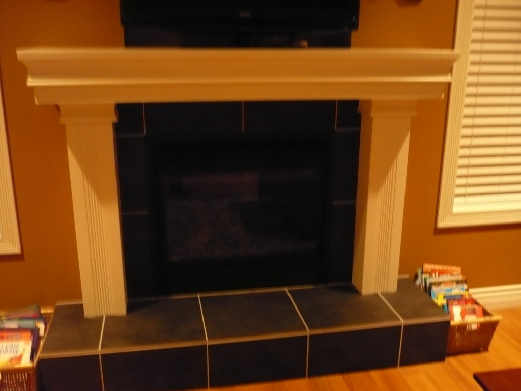 Fireplace backsplash tile
